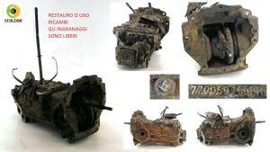 SCATOLA CAMBIO DA RESTAURO 7700597500 R B1B RENAULT R4 TL 845B 1984 25B